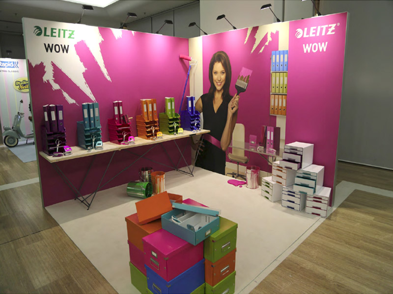 Leitz Messestand WOW Messestand